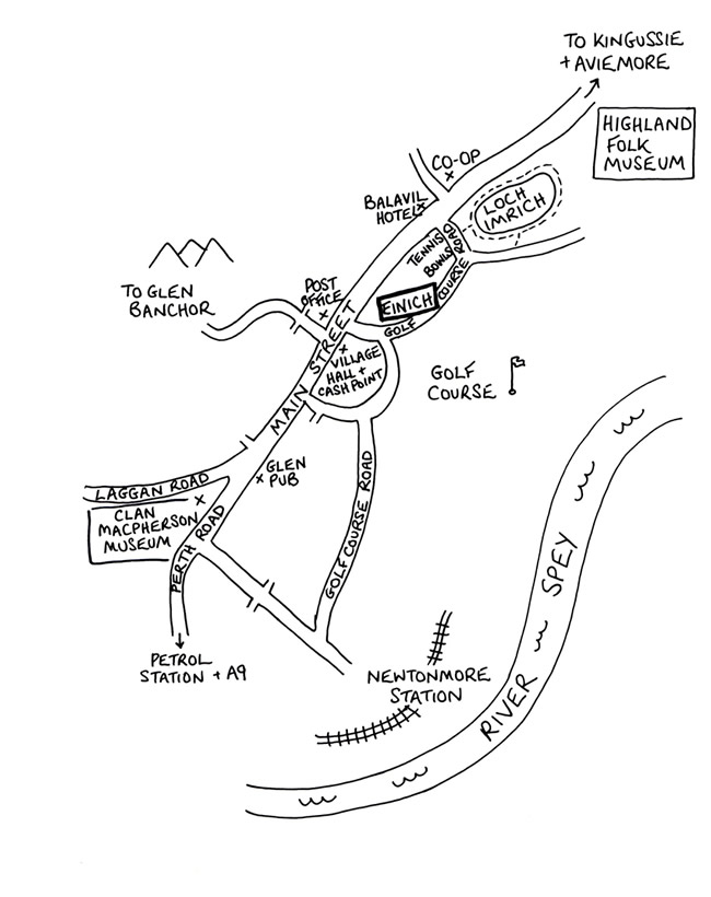 Map of Newtonmore