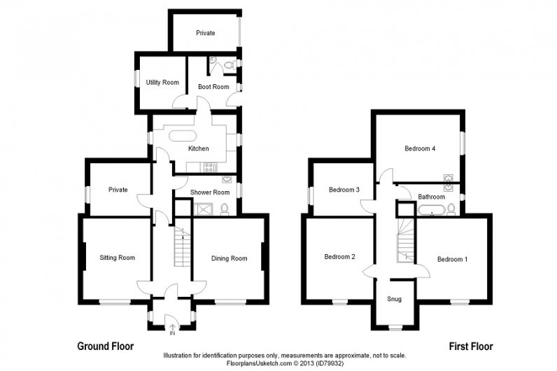 Einich Self Catering Accommodation Floor Plan